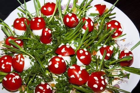 яйца фаршированные грибочки